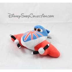 Peluche Bulldog avion DISNEY Planes Nicotoy  Scottish rouge et bleu 24 cm