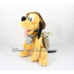 Peluche sac à main Pluto DISNEYLAND PARIS Mickey et ses amis avec un collier vert