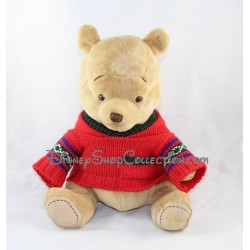 Plush Winnie the Pooh DISNEY STORE red sweater 30 cm