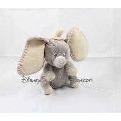 Peluche musicale éléphant Dumbo DISNEY NICOTOY gris beige 20 cm
