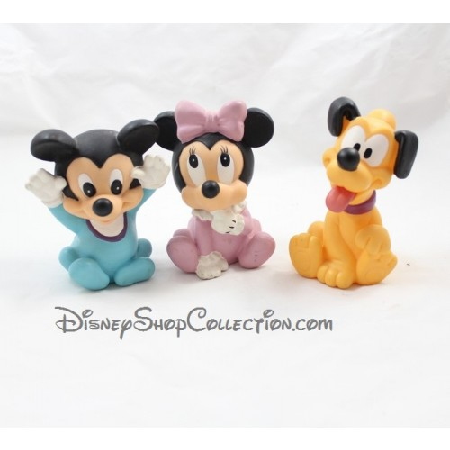 Lot de 3 figurines pouet pouet disney b b mickey minnie et pluto - Photo minnie et mickey bebe ...