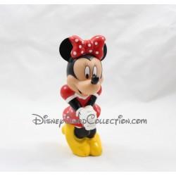 Figurine Minnie DISNEY robe rouge pois blanc en pvc amie de Mickey 14 cm