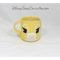 Mug Miss Bunny DISNEY STORE Bambi jaune nez relief 10 cm