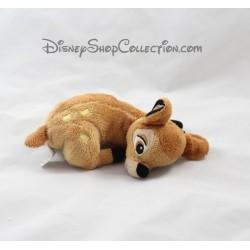 Peluche Bambi DISNEY STORE couché biche avec les pattes pliées