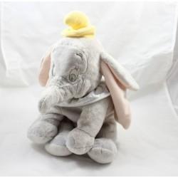 Peluche éléphant Dumbo DISNEY STORE gris col blanc 35 cm