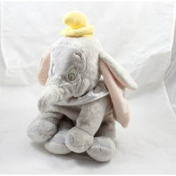 Plush elephant Dumbo DISNEY STORE gray collar 35 cm white