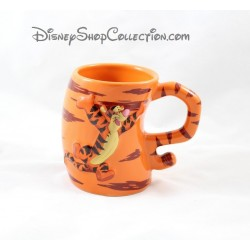 Mug en relief Tigrou DISNEYLAND PARIS tasse orange en céramique