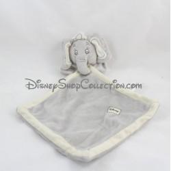 Doudou plat éléphant DISNEY NICOTOY Dumbo gris beige écusson 35 cm