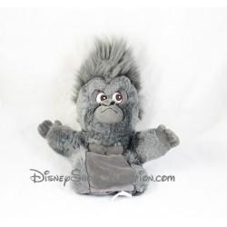 Peluche marionnette singe DISNEY STORE Tok Tarzan gorille gris noir 28 cm