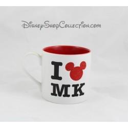 Mug I love MK DISNEYLAND PARIS tasse blanche rouge en céramique