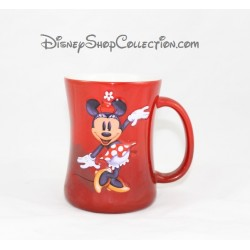 Mug en relief Minnie DISNEYLAND PARIS tasse rouge en céramique 3D Disney 11 cm