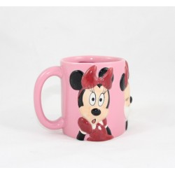 Mug en relief Minnie DISNEYLAND PARIS expressions visage rose 10 cm