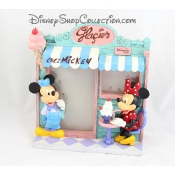 Cadre photo résine Mickey Minnie DISNEYLAND PARIS glacier Chez Mickey Disney