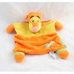 Doudou plat Tigrou DISNEY BABY libellule jaune orange 28 cm