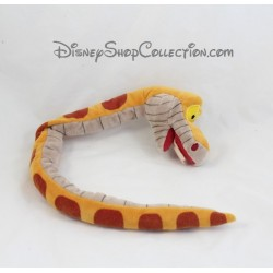 Peluche serpent Kaa DISNEY FAMOSA Le livre de la jungle jaune marron 48 cm