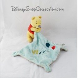 Doudou mouchoir Winnie l'ourson DISNEY NICOTOY ballon étoile bleu