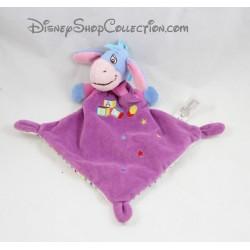 Doudou flat Bourriquet NICOTOY purple cubes Abc balloon stars diamond Disney