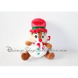 Peluche Tic et Tac DISNEYLAND Noël boule chapeau rouge 20 cm