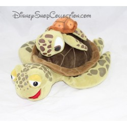 Plush turtle Crush Disney Finding Nemo with Squiz on the back