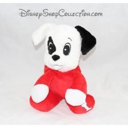 Doudou chien Dalmatien DISNEY NICOTOY Les 101 Dalmatiens combinaison rouge
