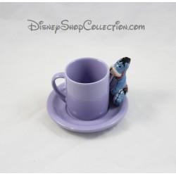 Tasse à café Bourriquet DISNEY STORE violet avec soucoupe céramique