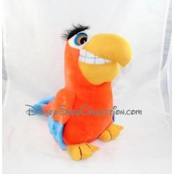 Peluche perroquet Iago DISNEY Aladdin orange vintage 33 cm