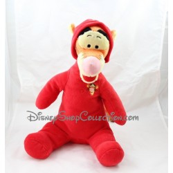 Peluche Tigrou DISNEY combinaison pyjama rouge 36 cm