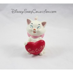 Figurine résine Marie chat DISNEY Les Aristochats coeur So Cute 9 cm