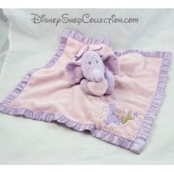 Doudou Lumpy elephant DISNEY STORE pink mauve satin flat