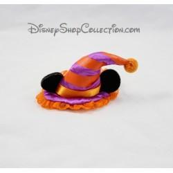 Barrette cheveux Minnie DISNEYLAND chapeau orange mauve