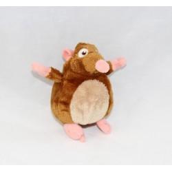 Porte clés peluche Emile DISNEY Ratatouille rat marron 10 cm