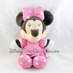 Peluche Minnie DISNEY NICOTOY classique robe rose à pois 40 cm