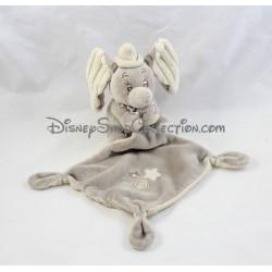 Doudou handkerchief Dumbo DISNEY NICOTOY stars gray beige elephant node 37 cm