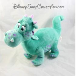 Peluche Crackle dragon DISNEY STORE Princesse Sofia vert pois mauve 36 cm