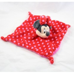 Doudou plat Minnie DISNEY ORCHESTRA carré rouge pois rose
