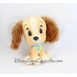 Peluche chien Lady DISNEY NICOTOY La Belle et le Clochard grosse tête 17 cm
