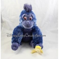 Peluche singe Tok DISNEY Tarzan banane gris bleu assis 30 cm