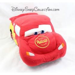 Peluche voiture Flash Mcqueen DISNEY STORE Cars rouge 33 cm