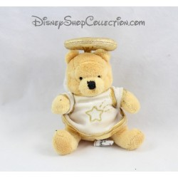 Mini peluche Winnie l'ourson DISNEYLAND PARIS Ange blanc doré Disney 10 cm