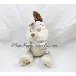 Peluche musicale lapin Pan Pan NICOTOY gris blanc marron Panpan Disney 30 cm
