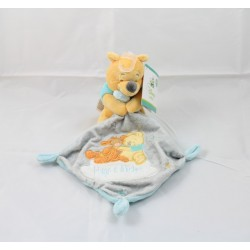 Doudou mouchoir Winnie l'Ourson DISNEY BABY Hugs & Wishes 13 cm