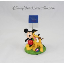 Figurine wearing photo Mickey and Pluto DISNEYLAND RESORT PARIS resin 14 cm