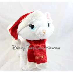 Marie DISNEYLAND PARIS Christmas Cat Towel The Aristochats cap red scarf 30 cm