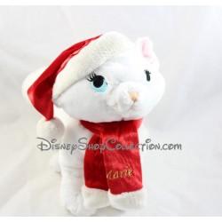Peluche chat Marie DISNEYLAND PARIS Noël Les Aristochats bonnet écharpe rouge 30 cm
