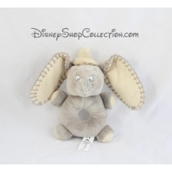 Plush rattle elephant Dumbo DISNEY NICOTOY gray Bell 17 cm