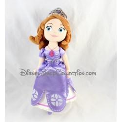 Peluche Princesse Sofia DISNEY STORE robe violette 33 cm