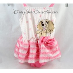 Lady DISNEY STORE 1 piece 6-9 months baby swimsuit Pink Pink Lady tutu