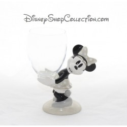 Verre à pied Minnie DISNEYLAND PARIS gris céramique Disney 16 cm