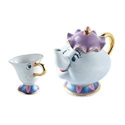 Service à thé Mrs Samovar et Zip DISNEY RESORT TOKYO La Belle et la Bête Mrs.Potts