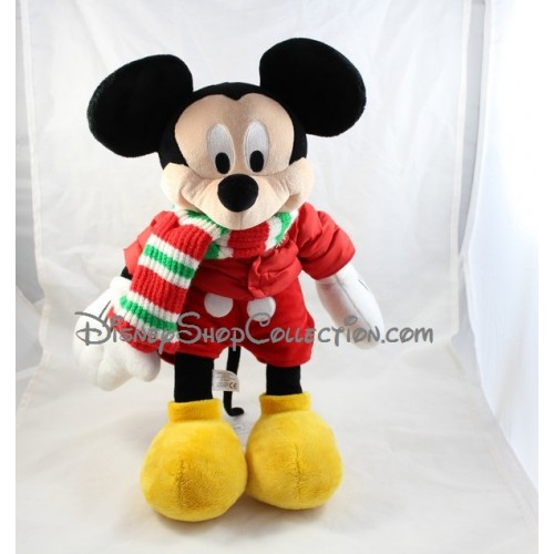 peluche no l mickey disney store mickey en p re no l avec sa hotte 43 cm disneyshop collection. Black Bedroom Furniture Sets. Home Design Ideas
